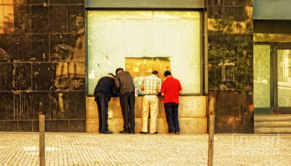 Wall Art - Photograph - Checking The Winning Numbers In Porto-portugal by Mary Machare