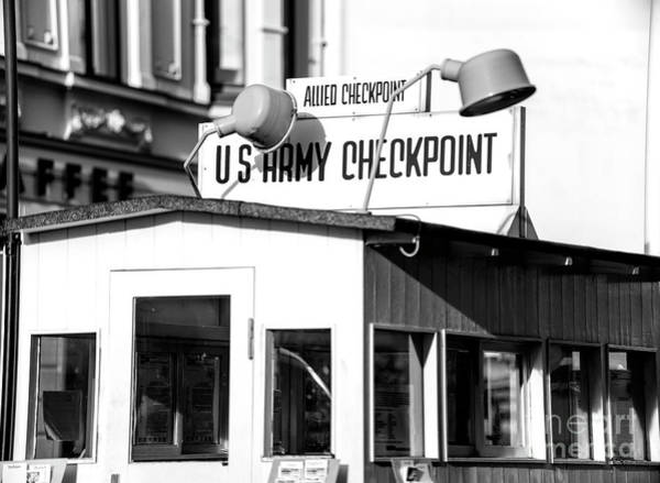 Wall Art - Photograph - Checkpoint Charlie In Berlin by John Rizzuto