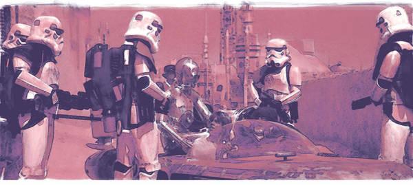 Star Wars Wall Art - Digital Art - Checkpoint by Kurt Ramschissel
