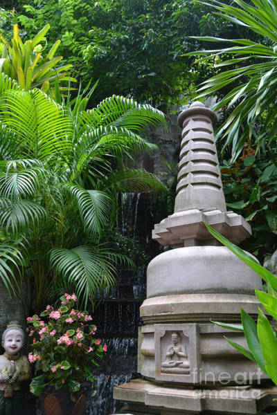 Rights-managed Wall Art - Photograph - Chedi Statue At The Golden Mount by Heather Kirk