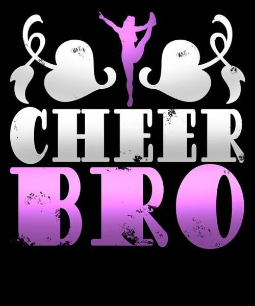 Cheerleaders Digital Art - Cheer Bro Gymnast Enthusiast by Sourcing Graphic Design