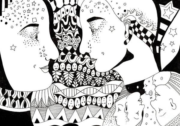 Drawing - Cheer Up 1 by Helena Tiainen