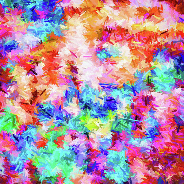 Digital Art - Cheer Up Colorful Abstract  by OLena Art - Lena Owens