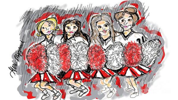Cheerleaders Digital Art - Cheerleading by Geraldine Myszenski