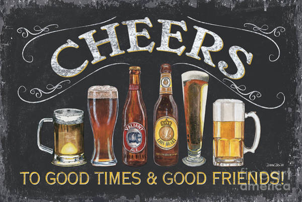 Label Painting - Cheers  by Debbie DeWitt