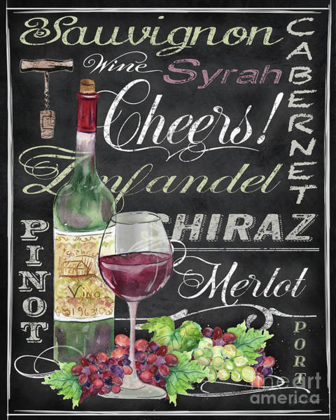 Wall Art - Painting - Cheers Wine Art-jp3970 by Jean Plout