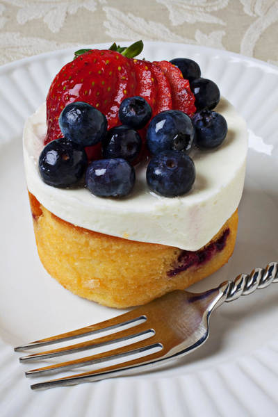 Tart Wall Art - Photograph - Cheese Cream Cake With Fruit by Garry Gay