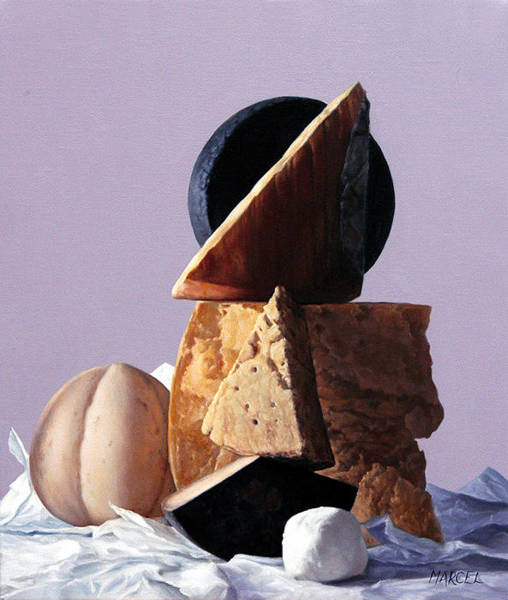 Wall Art - Painting - Cheese by Marcel Franquelin