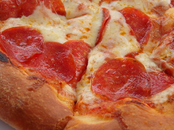 Photograph - Cheesy Pepperoni Pizza by Kimberly Perry