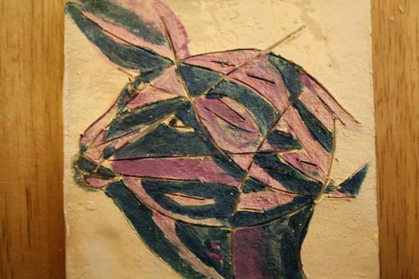 Ceramic Art - Cheetah - Tile by Gloria Ssali