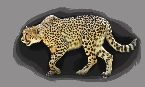 Digital Art - Cheetah 10 by Larry Linton