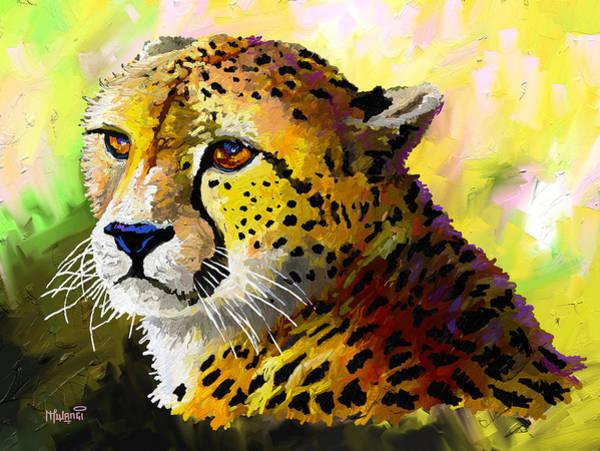 Vertebrate Painting - Cheetah by Anthony Mwangi