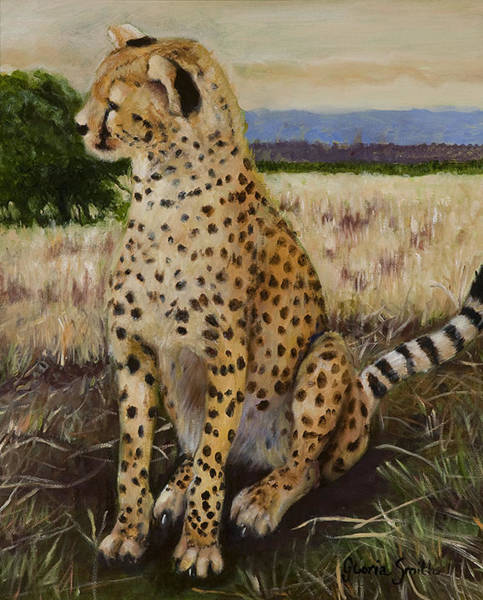 Cheetah Art Print by Gloria Smith