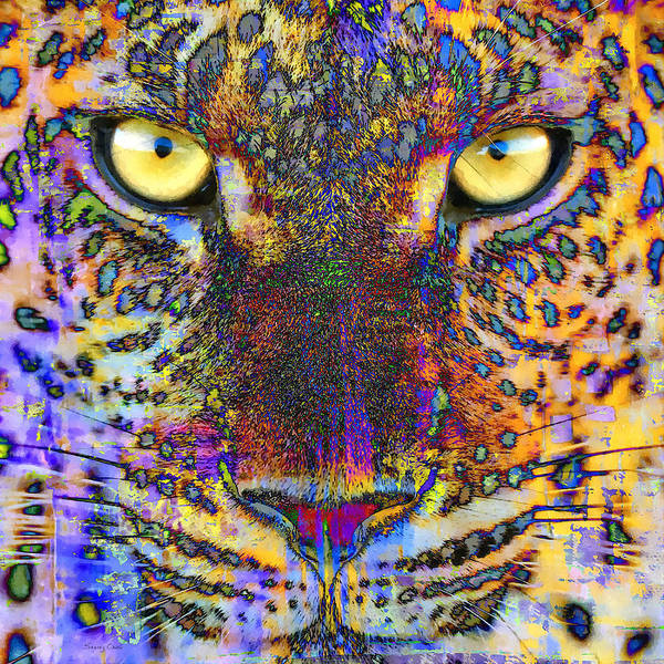Mammal Mixed Media - Cheetah by Stacey Chiew
