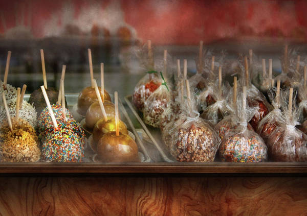Photograph - Chef - Caramel Apples For Sale  by Mike Savad