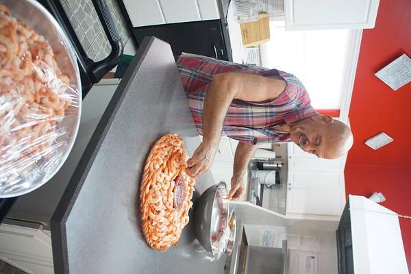 Willett Photograph - Chef Curt Preps Shrimp by Mike Willett