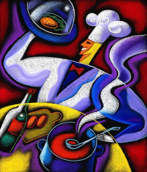 Talent Wall Art - Painting - Chef by Leon Zernitsky
