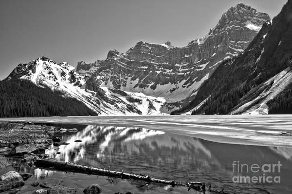 Photograph - Chehren Lake Reflections Black And White by Adam Jewell