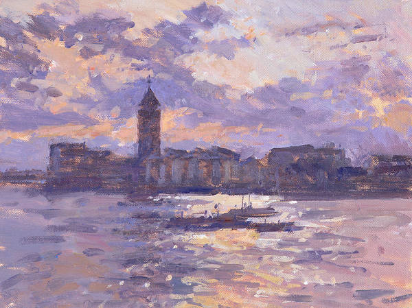 Violet Painting - Chelsea Harbour by Christopher Glanville