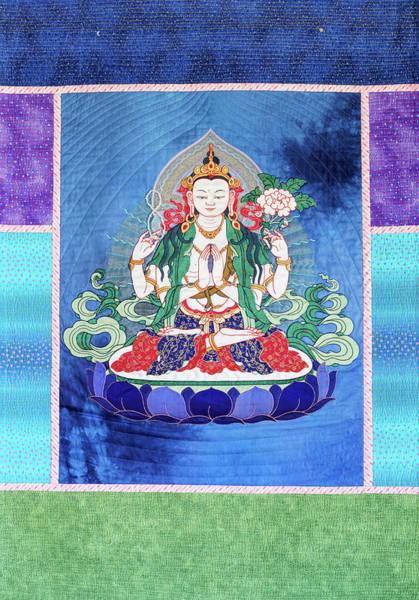 Wall Art - Tapestry - Textile - Chenrezig by Leslie Rinchen-Wongmo
