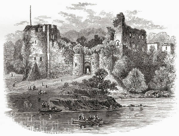 Wales Drawing - Chepstow Castle, Chepstow by Vintage Design Pics
