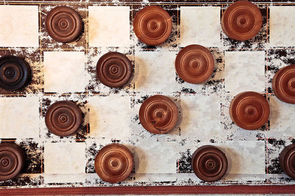 Old Wall Art - Photograph - Chequer Board by Tom Gowanlock