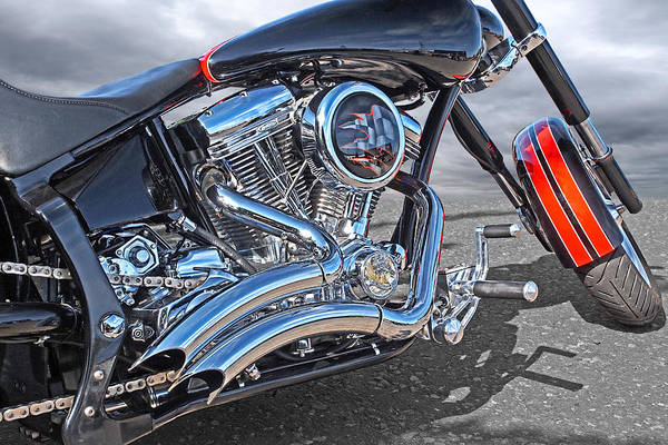 Photograph - Chequered Flag Harley by Gill Billington