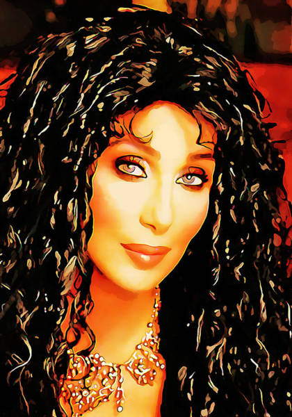 Wall Art - Mixed Media - Cher by Marvin Blaine