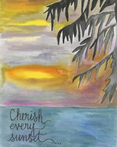 Cherish Every Sunset Art Print