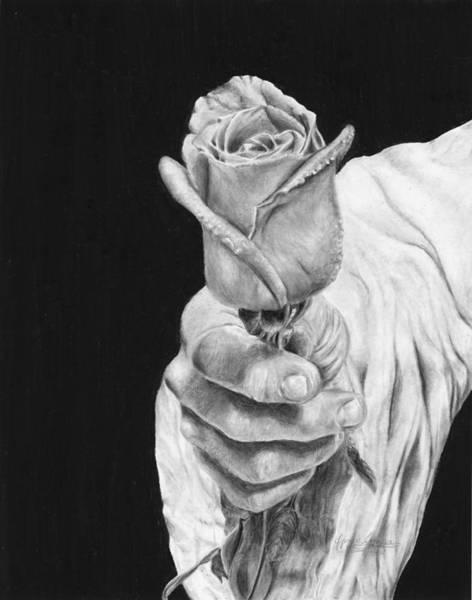 Jesus Drawing - Cherished by Jyvonne Inman