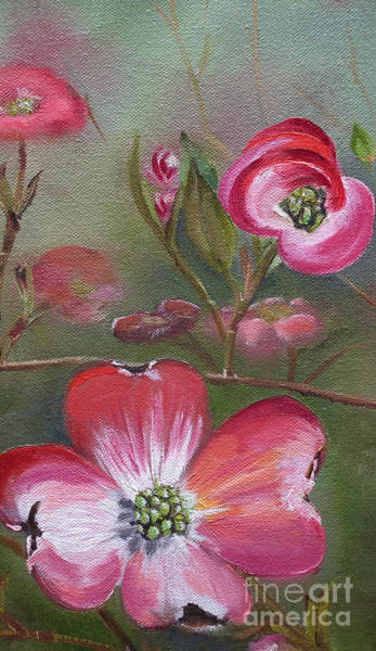 Painting - Cherokee Brave Dogwood - Spring - Red  by Jan Dappen