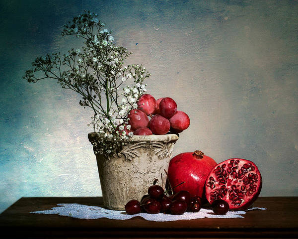 Photograph - Cherries And Pommegranates by Levin Rodriguez