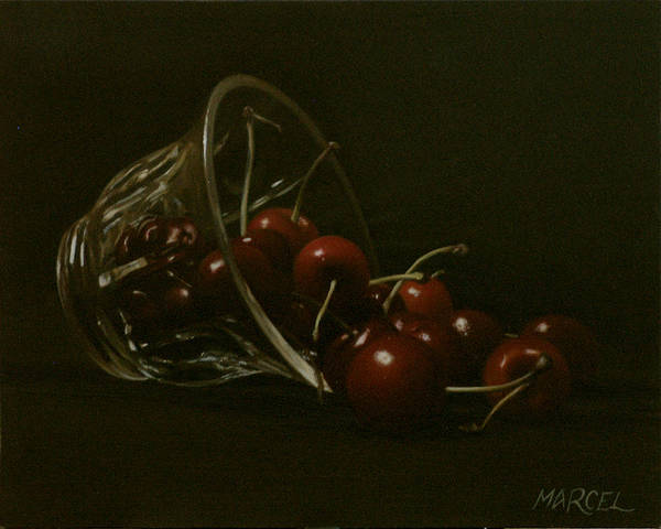 Wall Art - Painting - Cherries by Marcel Franquelin