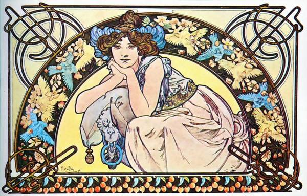 Painting - Cherry by Alphonse Mucha