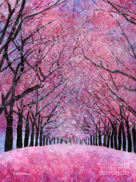 Pink Blossom Painting - Cherry Blast by Hailey E Herrera
