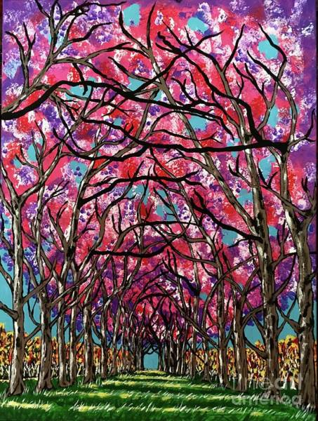 Wall Art - Painting - Cherry Blossom Lane by Jeffrey Koss