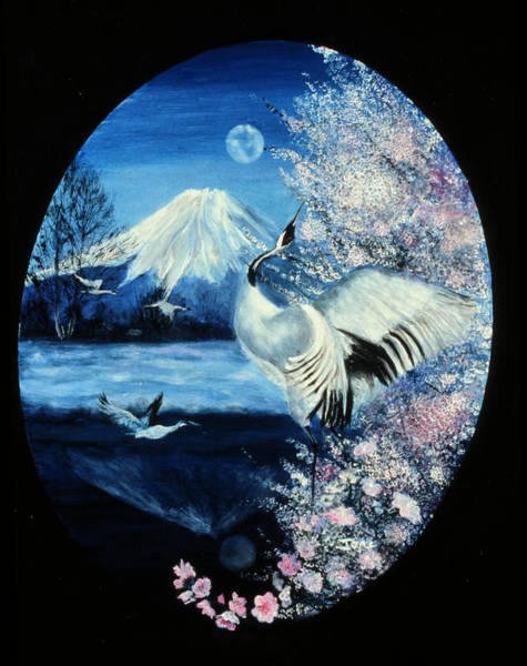 Ione Painting - Cherry Blossom Time by Ione Citrin
