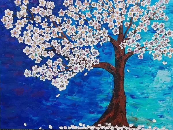 Painting - Cherry Blossom Tree  by Jennah Lenae
