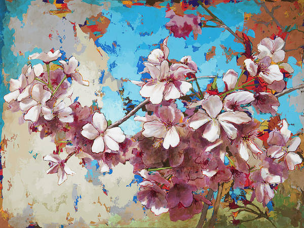 Pink Blossom Painting - Cherry Blossoms #3 by David Palmer