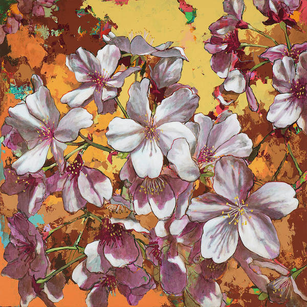 Cherry Wall Art - Painting - Cherry Blossoms #4 by David Palmer