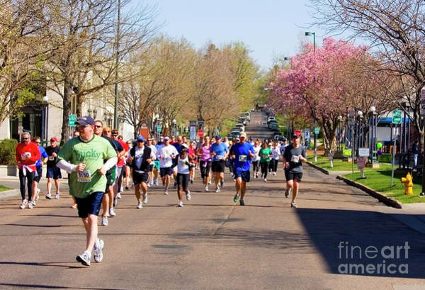 Photograph - Cherry Blossoms And Runners In The Sneak by Steve Krull