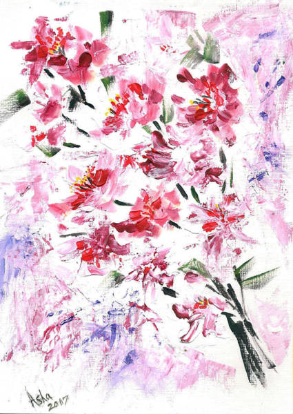 Painting - Cherry Blossoms by Asha Sudhaker Shenoy