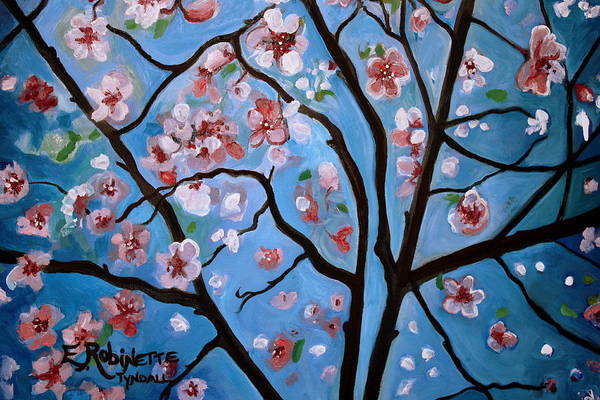 Painting - Cherry Blossoms In Bloom by Elizabeth Robinette Tyndall