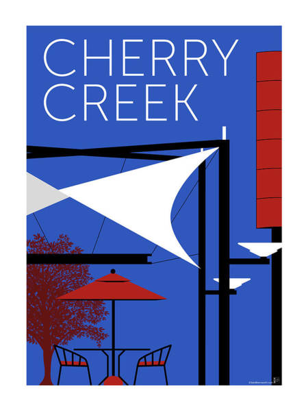 Digital Art - Cherry Creek Blue by Sam Brennan
