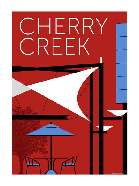 Digital Art - Cherry Creek Red by Sam Brennan