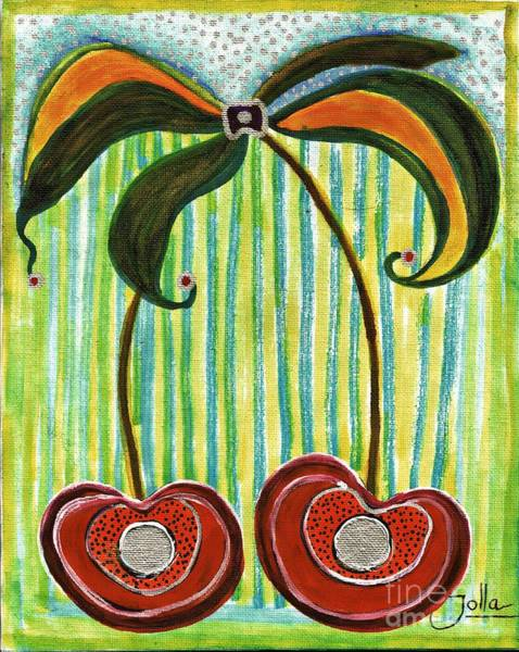Painting - Cherry Double by Jolanta Anna Karolska