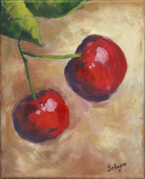 Painting - Cherry Duo by Kathie Selinger