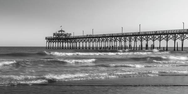 Photograph - Cherry Grove Fishing Pier Bw Panorama by Ranjay Mitra