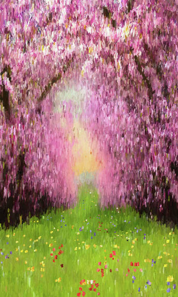 Digital Art - Cherry Orchard by Matt Lindley
