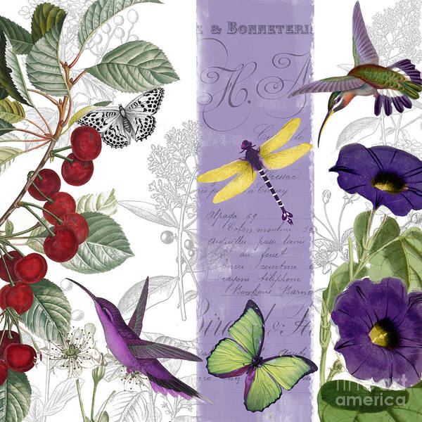 Wall Art - Painting - Cherry Picked I by Mindy Sommers